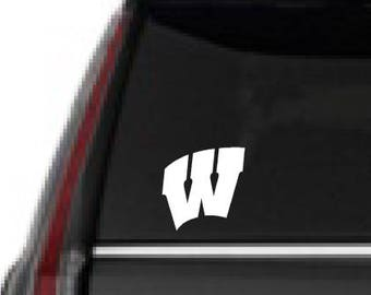 Wisconsin football, Yeti sticker, FREE SHIPPING, Football, sticker decal, Bucky Badger, home decor, college room decor  #276
