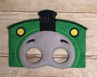 Thomas the Train Inspired Mask/Child/Costume/Gift/Christmas/Party Favor/Halloween Costume/Photo Booth/Birthday/Party/Thomas Train