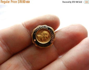 Summer Sale Vintage Gold Filled Lincoln Junior High School Class Pin