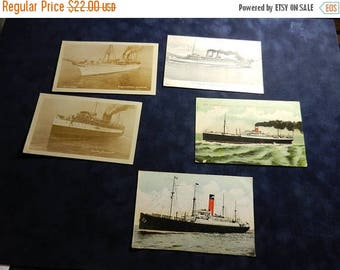 Summer Sale 5 Vintage Cruise Ship Passager Ship Postcards