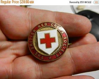 Summer Sale Vintage WW2 British Red Cross Badge
