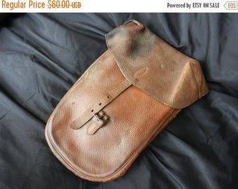 Summer Sale Vintage 1928 dated Quarter Master Department Motor Cycle or Saddle Side Pouch