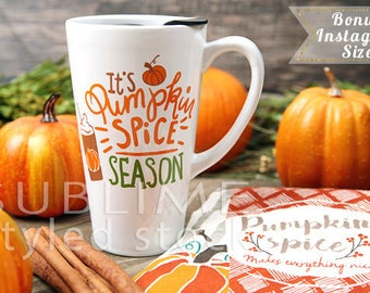 Fall Background / Stock Photo / Pumpkin Spice / Wood Background / Coffee / Pumpkins / Instagram / Styled Stock Photography / StockStyle-875