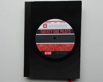 Vinyl Record Bound Notebook - Twenty One Pilots