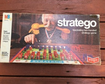 Stratego Vintage Board Game 1977 Milton Bradley Family Game Night Strategy Game