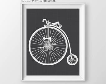 Penny Farthing Bicycle Gift for Cyclist Gift for Boyfriend Bicycle Art Print Steampunk Decor Art Print Bicycle Wall Art Bicycle Decor Print
