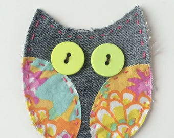Sewing - OWL patch applique