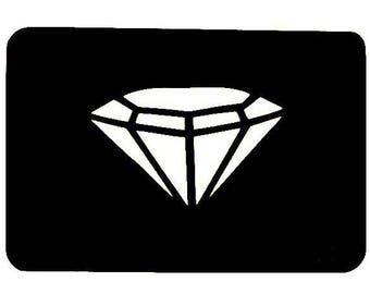TEXTILE TATTOO DECO 7 X 10 CMM diamond pattern STENCIL