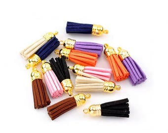 10 charms tassels multicolored 3.7 cm