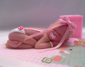"""Polymer Clay Babies """"It's A Girl"""" Gift, Collectible, Keepsake, Memorial, Cake Topper BABY SIZE 3.5"""""""