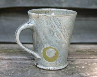 Gray Mug with Green Circle
