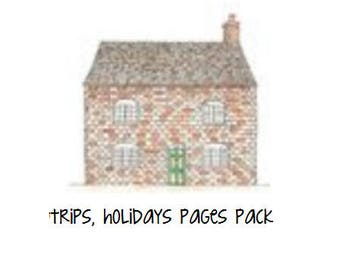 Baby Book Extra Pages pack for Trips & Holidays
