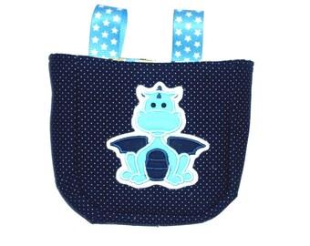 Cute handlebar bag, dark-blue, Dragon