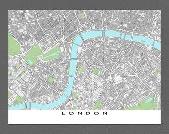 London Art, London Map Print, England, UK United Kingdom, City Street Map