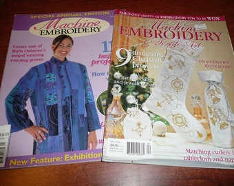 Machine Embroidery & Textile Art Magazines Volumes 6 And 14