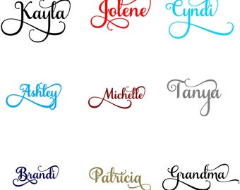 Fancy NAME WALL DECAL for kid's room | Nursery |Personalized wall decal