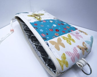 Insulated EpiPen Case, Butterflies Insulated Pouch, Insulin Suplies Case, Travel Medical Bag, Insulated Bag, Warm Cold Bag