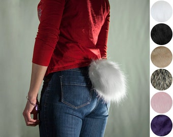 In Stock - Faux Fur Rabbit Tail