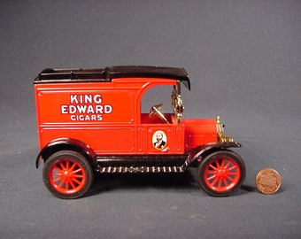 King Edwards Cigars * Toy Coin Bank Truck * Vintage Old Collectible * Die  Cast *