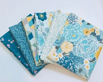 Fat Quarter Bundle Ava Rose by Deena Rutter for Riley Blake Designs- 6 Fabrics