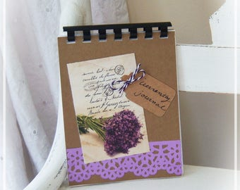 Journal, Currently, Spiral Bound, Writing Journal, Gift, Handmade Journal, Lavender, Diary, Kraft Notebook, All about me, Nature