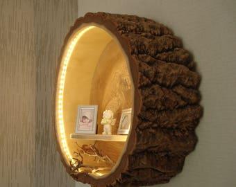 Wall lamp wood
