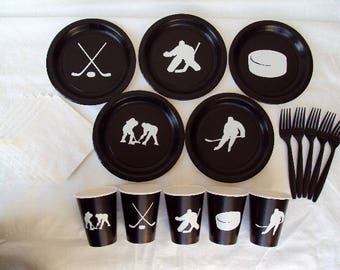 Hockey Party Tableware Set for 5 People