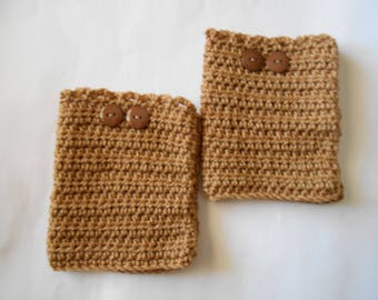 Boot Cuffs in a Medium Brown Color