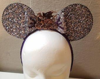 Malificent mouse ears, Disney mouse ears, sleeping beauty, Christmas gift idea, unique gift idea
