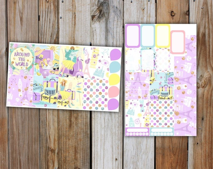 Summer Holiday Planner Sticker MINI Kit | Summer Planner Stickers Kit for use with ERIN CONDREN Life Planner