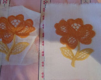 application with transfer on fabric instant vintage floral