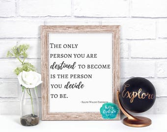 Inspirational Quote Digital Print, Self Help Wall Art, Home Decor, Quotes and Sayings, Cute Wall Hanging, Wall Decor, Sign, Motive Quote