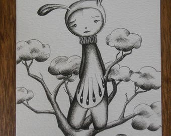 The Rain Tree - ink drawing