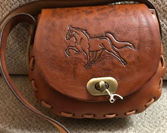 Hand Tooled Leather Handbag P23