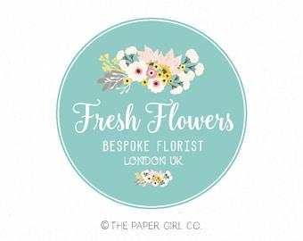 florist logo design floral logo design flower logo design vintage logo design premade logo design photography logo event planner logo