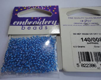 seed fine embroidery (008) 2mm Sapphire