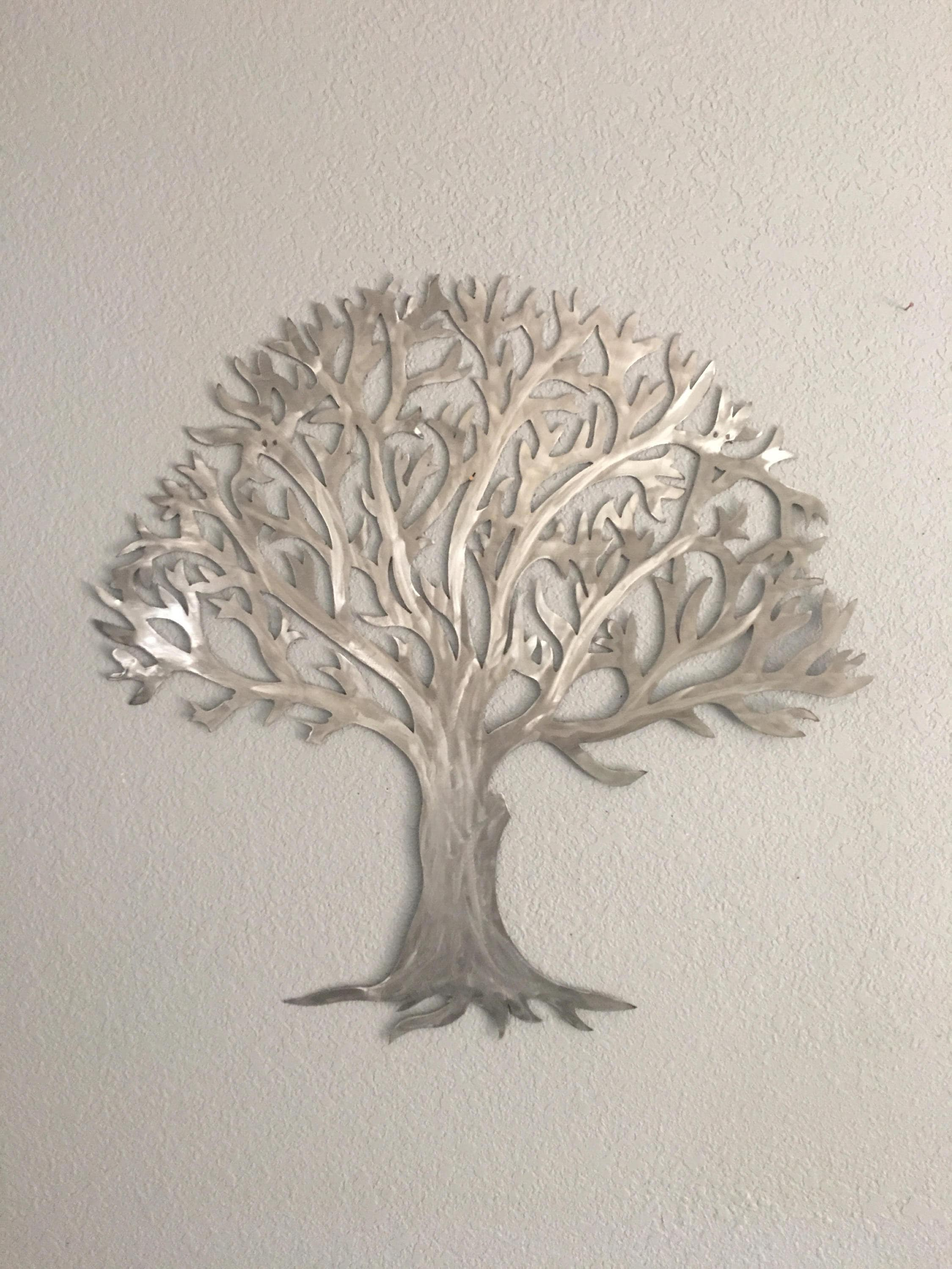 Metal Tree Wall Art Metal Treestainless Steel Tree Wall Art Wall Decor