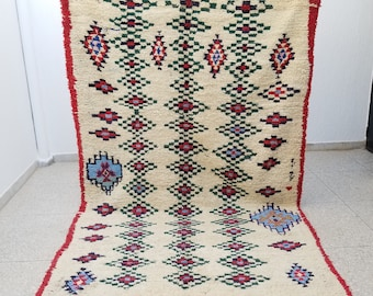 Authentic High Quality Azilal Moroccan Berber rug Wool 10'2 x 6'2 Beni Ourain
