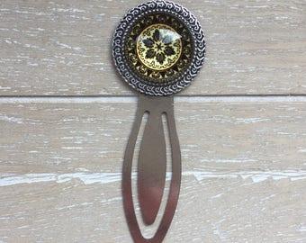 Bookmark dark brown mandala