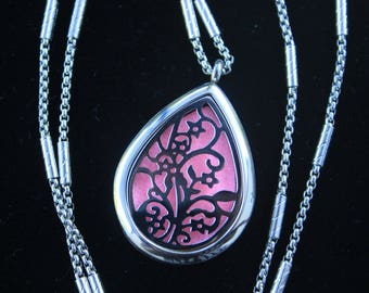 Essential Oil Diffuser Aromatherapy Necklace Locket ~ Stainless Steel  Locket and Necklace