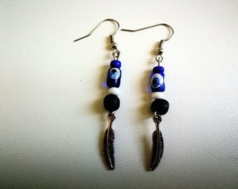 Earrings evil eye