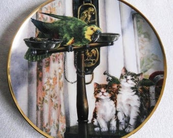 Beautiful collectible-Cats-Franklin Mint-Polly and friends-Lesley Hammett-Vintage CAT/cats collector plate