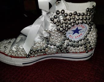 Bedazzled converse allstart hightop