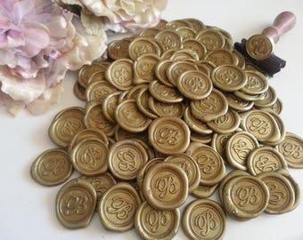 Alphabets Initials Letter A B C D E F G H I J K L M N O P Q R S T U V W X Y Z Monogram wax seal stickers Envelope seals Pure Invites