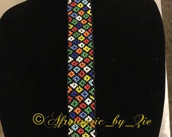 Zulu beaded necktie