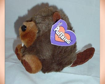Puffkins Chomper the Beaver 1997 Plush with Tags