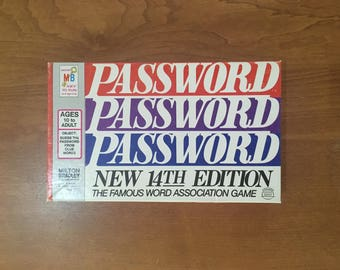 PASSWORD Board Game 14th edition, Vintage 1973, Milton Bradley #4260, Unopened NIB, The Famous Word Association Game, ages 10 - Adult