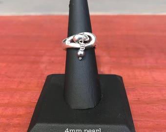 Dangling Pearl Ring