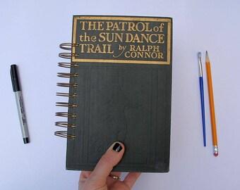 150 page junk journal, spiral bound smash book, spiral art journal - vintage hardcover altered book journal