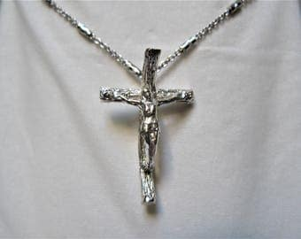 chain cross with Christ Silver 925